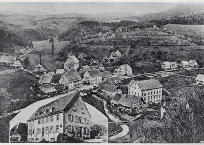 Die Ansichtskarte gewährt einen Blick auf Dörlinbach im Jahre 1925. Auch hier ist das Gasthaus Löwen gesondert dargestellt.