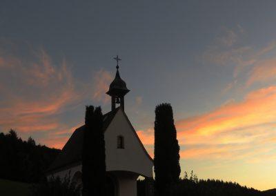 Abendstimmung am Kapellchen auf dem Kappelberg, Oktober 2019.