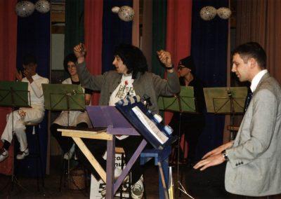 Narrensplitter vom Zunftabend der Bremsdorfer Narrenzunft (BNZ) Dörlinbach im Februar 2003 in der Turn- und Festhalle.