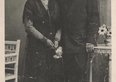 Porträtaufnahme von Schneidermeister Alois Schätzle und dessen Ehefrau Maria Theresia.