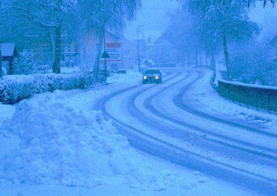 März 2003: Märchenhafte Winter-Impressionen.