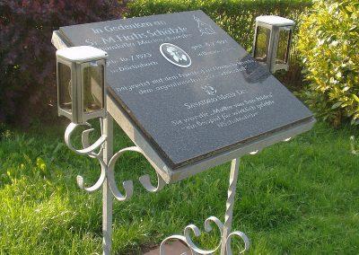 November 2008: Die Gedenktafel für die aus Dörlinbach stammende Schönstätter Marienschwester Maria Fiatis Schätzle,
