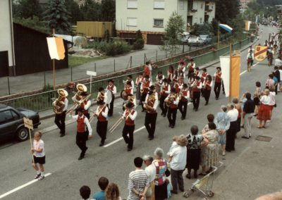 """Im Juli 1992 feierte der Radfahrverein """"Schutterbund"""" sein 85-jähriges Besten mit einem Festumzug: Mit Musik kommt der Umzug ins rollen …"""