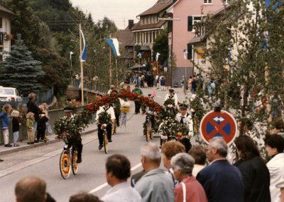"""Der älteste Verein im Ort hat Geburtstag: Im Mai 1997 feierte der Radfahrverein """"Schutterbund"""" Dörlinbach seinen 90. Geburtstag."""