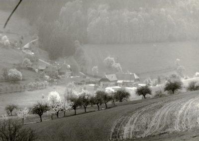 Schwarz-Weiß-Impressionen aus dem Frühjahr 1988: Blick in die Hub.