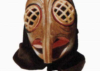 Die Bremme-Maske, wie sie für die zweite Auflage Briefpapier für die Bremsdorfer Narrenzunft als Foto-Logo geschaffen wurde.