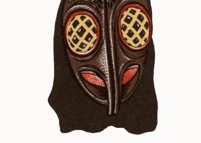Dieses Logo der Säcklistrecker-Maske wurde für das erste Briefpapier der Bremsdorfer Narrenzunft entworfen.