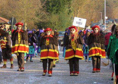 Januar 2020: Die Bremsdorfer Narrenzunft (BNZ) zu Gast beim Narrentreffen in Sulz.