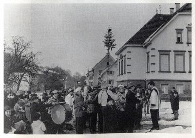 Fasent anno dazumals: Der Musikverein bewahrte über viele Jahre hinweg das fasnachtliche Brauchtum im Ort