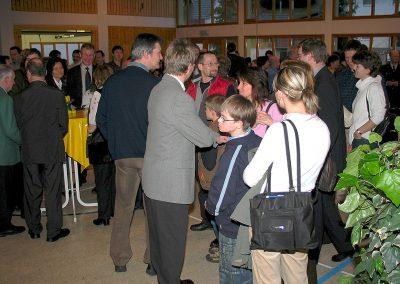 Neujahrsempfang 2005 für den damals neuen Bürgermeister Carsten Gabbert mit Verleihung von Bürgermedaillen in der Turn- und Festhalle in Dörlinbach.