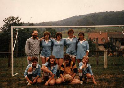 1983 war ein erfolgreiches Jahr für die Damenmannschaft der KJG Dörlinbach. Beim Krempelturnier des SV Dörlinbach holten sich die Mädchen den ersten Platz.