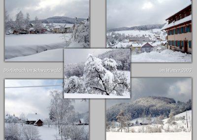 Winter-Impressionen aus dem Jahre 2003 im Postkartenformat.
