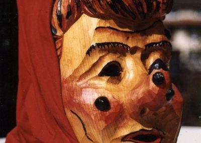 """So sahen die ersten Masken der """"Schluchwaldhexen"""" aus. Die Aufnahmen stammen aus April 1993, da waren die Hexen gerade einmal vier Jahre alt."""