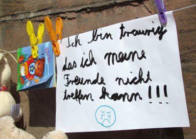 Gründonnerstag 2021: Eltern-Protest-Aktion gegen Corona-Maßnahmen.