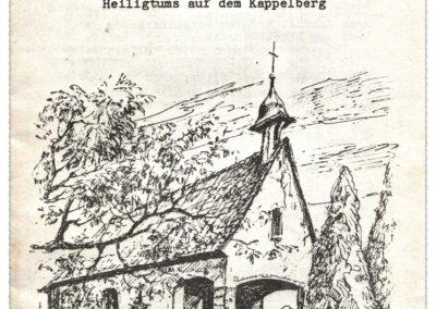 Es gibt tatsächlich ein Dokument, das Dörlinbachs Kapellchen auf dem Kappelberg, das vor allem im Inneren und größtenteils auch außen einer Schönstatt-Kapelle nachempfunden ist, als Schönstatt-Heiligtum ausweist