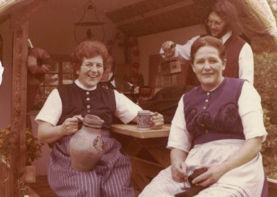 Beim Festumzug zur 750-Jahr-Feier im Jahre 1975 wurde auch altes Handwerk dargestellt.