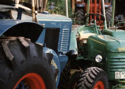Impressionen vom Bulldog-Treffen im Rahmen des DRK-Bergfestes des Orstvereins Schuttertal im September 1997 auf dem Lieberatsberg.