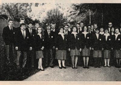 Die Bereitschaft des DRK-Ortsverein Schuttertal im September 1994.
