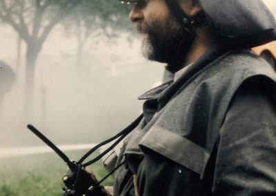 Schauübung von DRK und Feuerwehr anlässlich des DRK-Bergfestes im September 1994 auf dem Lieberatsberg.