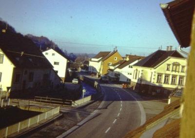 Januar 1973: Blick durch die Hauptstraße.