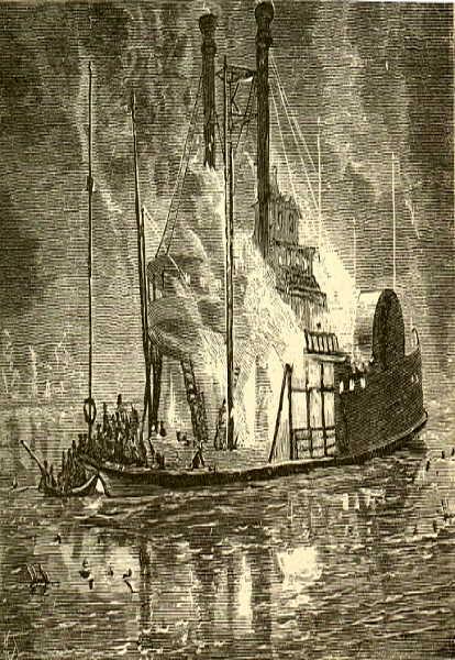 Schiffsbrand auf dem Eriesee