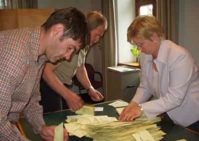 Impressionen von der Bürgermeisterwahl im April 2004 …