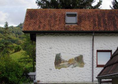 Wandgemälde von Hans Busch – Brandhalde – August 1975.