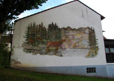 Wandgemälde von Hans Busch – Brandhalde – Juli 1975.