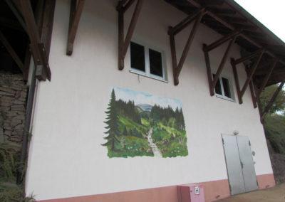 Wandgemälde von Hans Busch – Oberrain – Mai 1997 / restauriert Juni 2015.