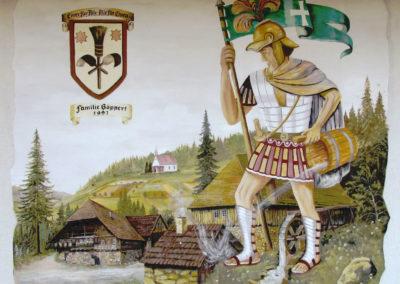 Wandgemälde von Hans Busch – Am Kappelberg – August 1991.