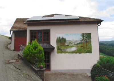 andgemälde von Hans Busch – Oberrain – September 2001 / restauriert Juni 2015.