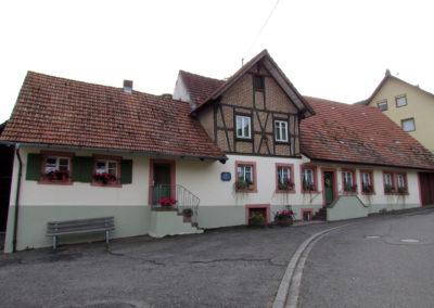 September 2021: Die Herrschaftliche Bannmühle des Kloster Ettenheimmünsters wird heute als Wohnhaus genutzt. Erstmals wurde die Kloster-Mühle im Jahre 1226 erwähnt.