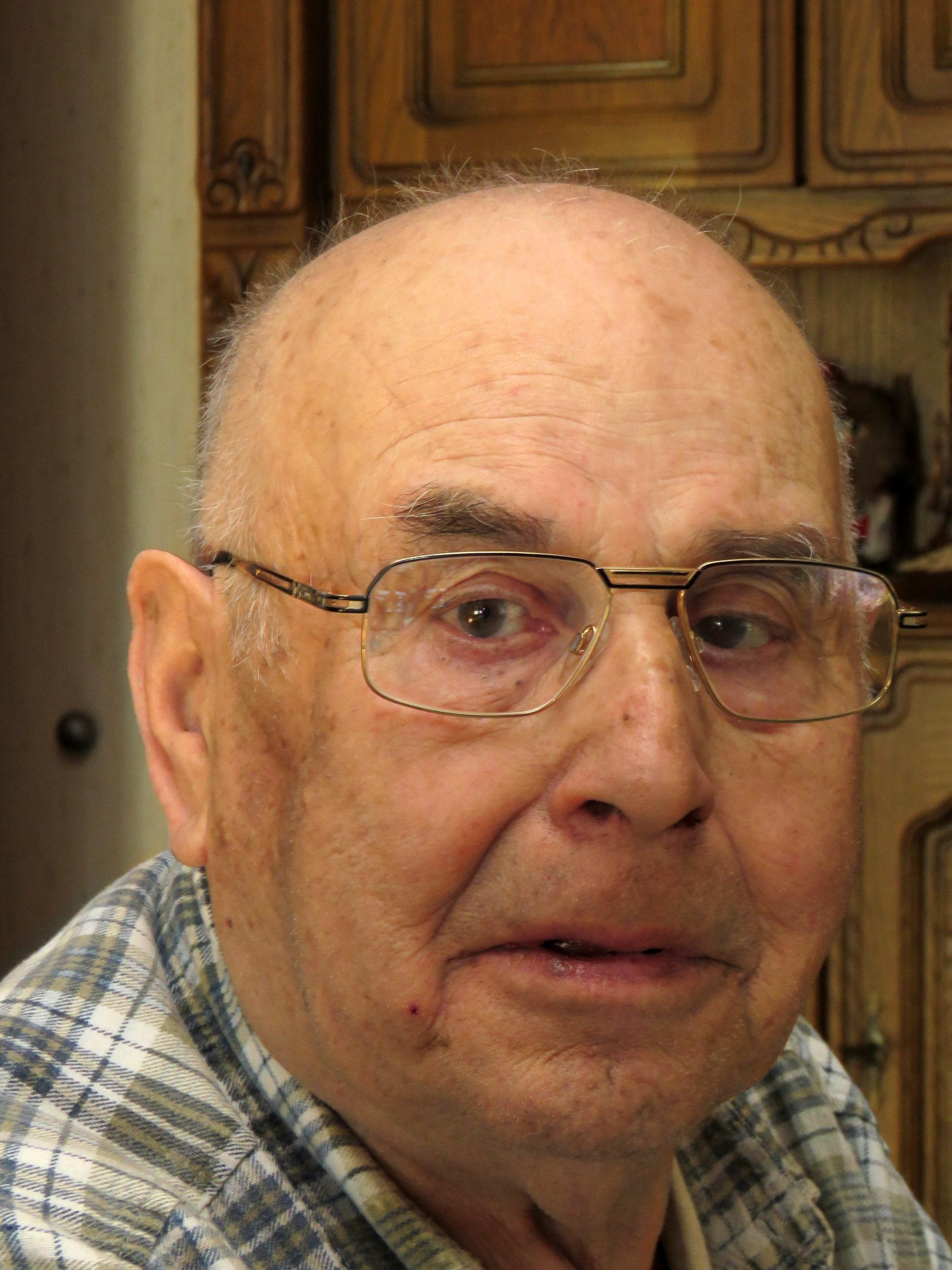 April 2016: Zimmermann Joseph Fischer (1931 bis 2020) wenige Tage vor seinem 85. Geburtstag.