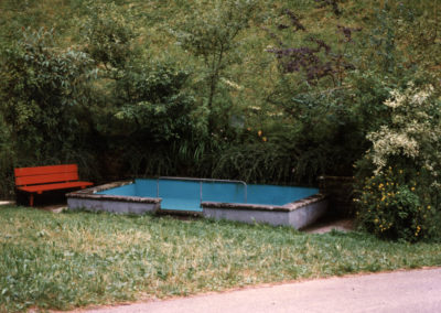 """Blick auf """"s'Tretbad"""" im August 1996."""